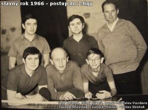stolní tenisté v roce 1966